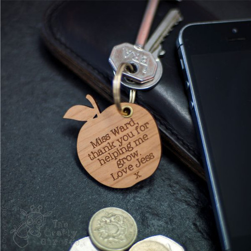 Personalised Apple Keyring