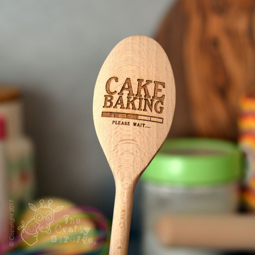 Personalised Cake Baking Spoon