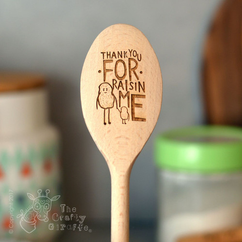 Personalised Thank you for raisin me Spoon