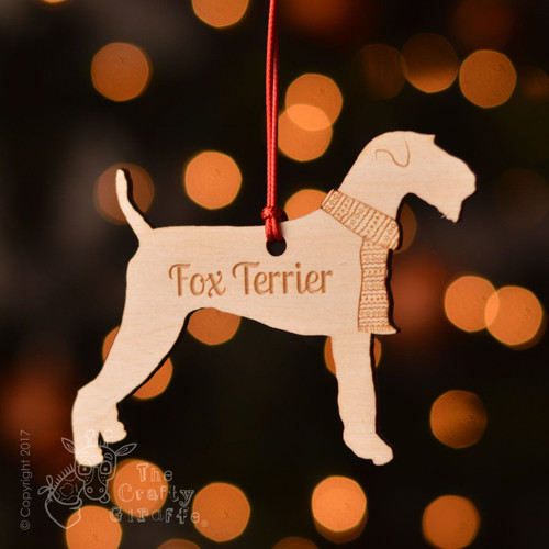 Personalised Fox Terrier Dog Decoration