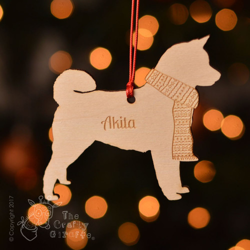 Personalised Akita Dog Decoration