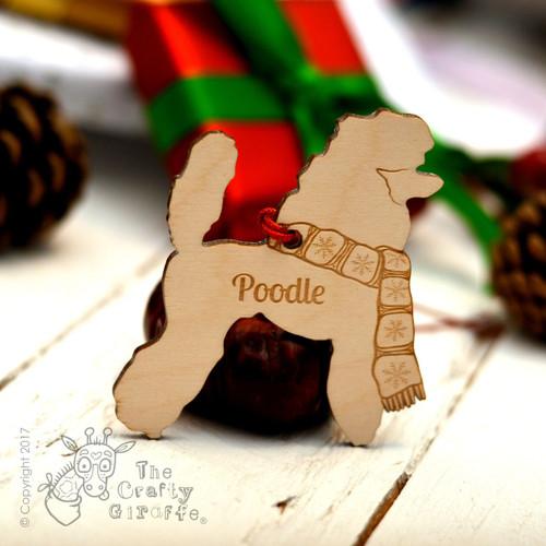 Personalised Poodle Decoration