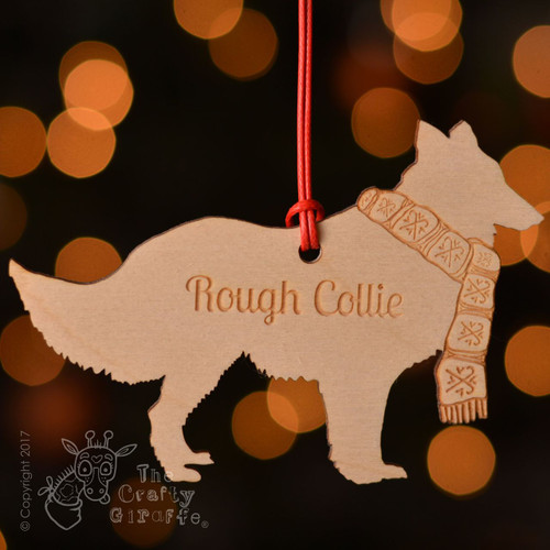 Personalised Rough Collie Decoration