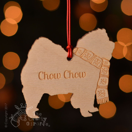 Personalised Chow Chow Dog Decoration