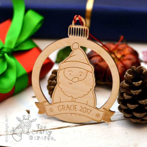 Personalised Santa Decoration