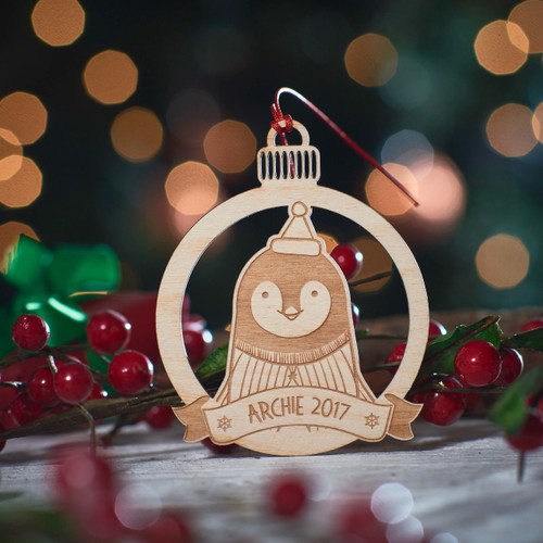 Personalised Penguin Decoration