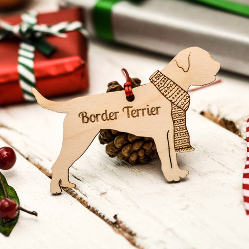 Personalised Border Terrier Decoration