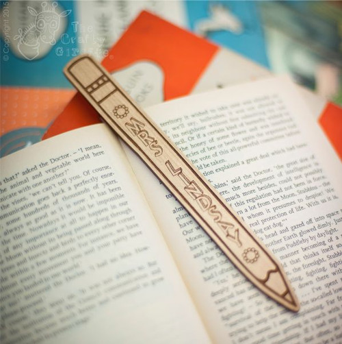 Personalised Pencil Bookmark