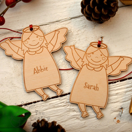 Personalised Angel Girl Decoration