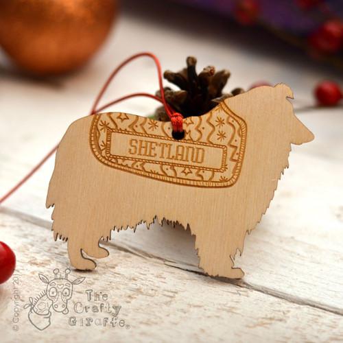 Personalised Shetland Sheepdog Decoration