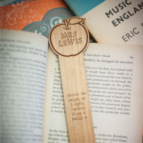 Personalised Apple Bookmark
