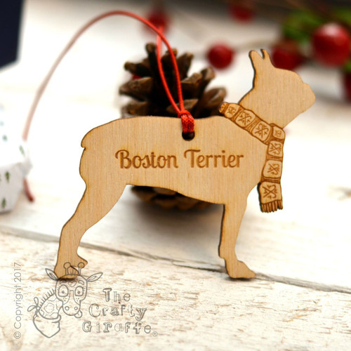 Personalised Boston Terrier Decoration