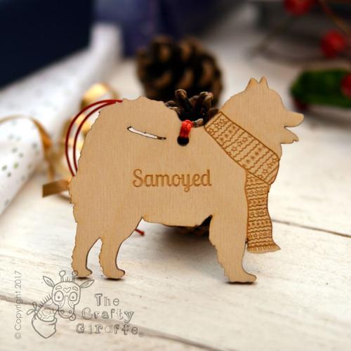 Personalised Samoyed Decoration