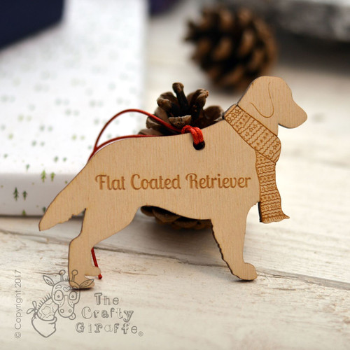 Personalised Flat Coated Retriever Decoration