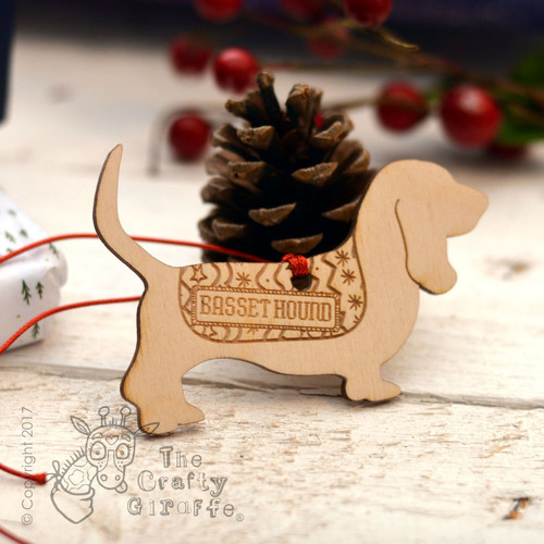 Personalised Basset Hound Decoration