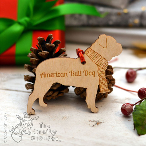 Personalised American Bull Dog Decoration