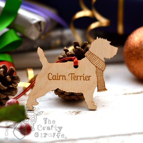 Personalised Cairn Terrier Decoration
