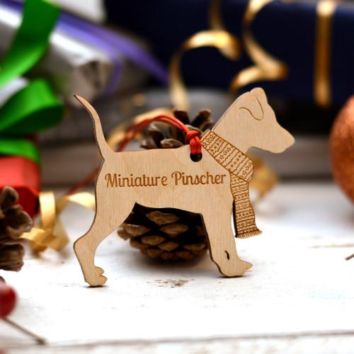 Personalised Miniature Pinscher Decoration