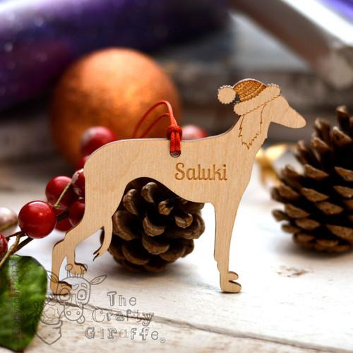 Personalised Saluki Decoration