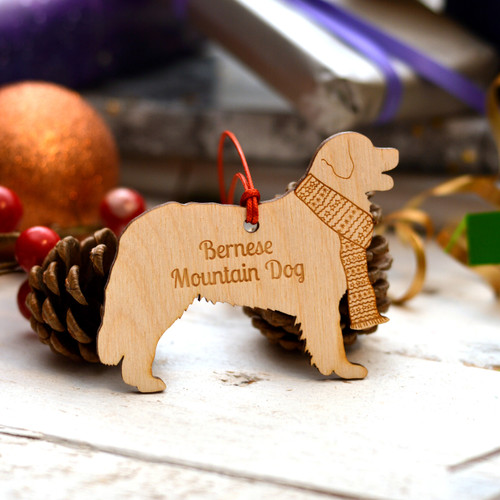 Personalised Bernese Mountain Dog Decoration