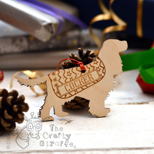 Personalised Cocker Spaniel Decoration - Long Tail