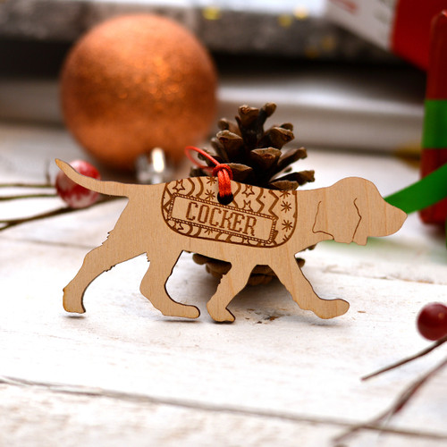 Personalised Working Cocker Spaniel Decoration - Long Tail