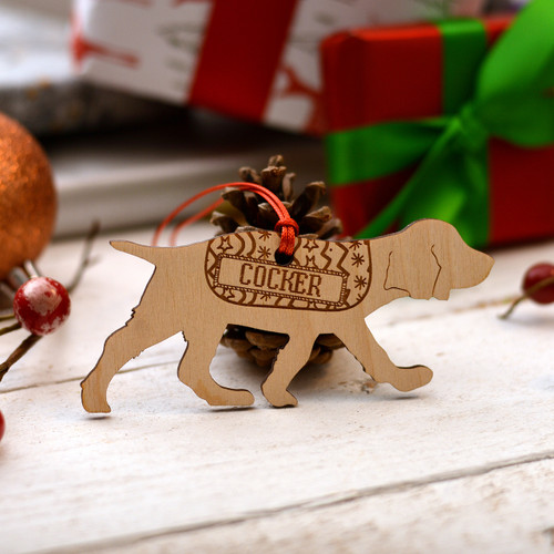 Personalised Working Cocker Spaniel Decoration - Short Tail