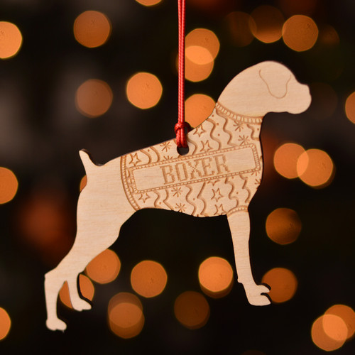 Personalised Boxer Dog Decoration - Short Tail