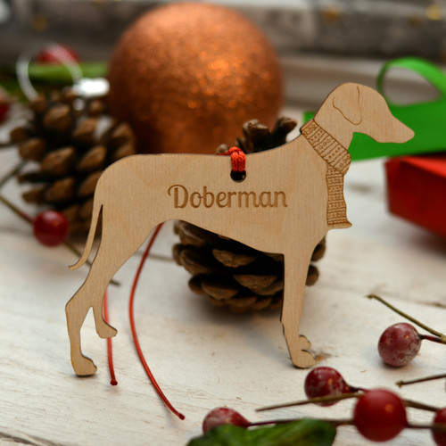 Personalised Doberman Dog Decoration - Long Tail