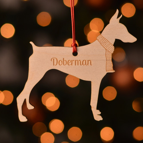 Personalised Doberman Dog Decoration - Short Tail
