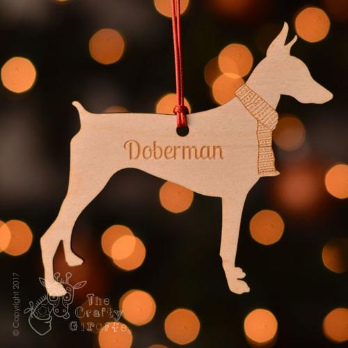 Personalised Doberman Dog Decoration - Short Tail