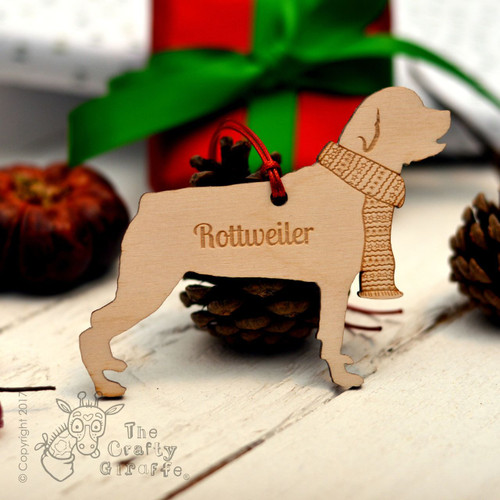 Personalised Rottweiler Decoration - Short Tail