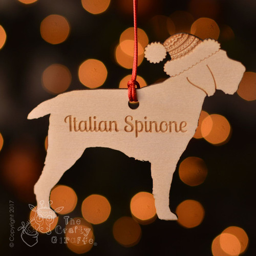 Personalised Italian Spinone Dog Decoration - Short Tail