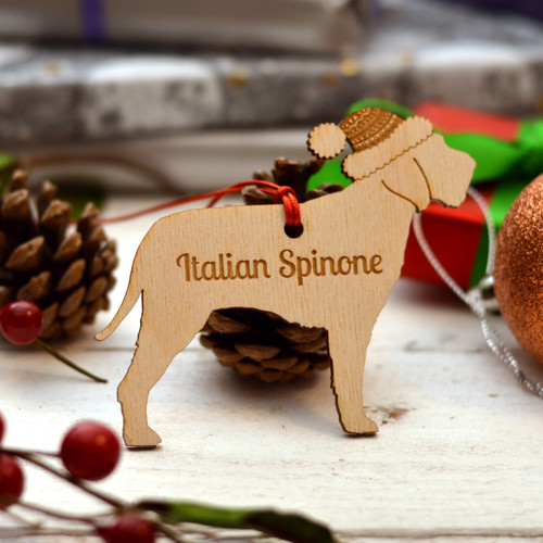 Personalised Italian Spinone Dog Decoration - Long Tail