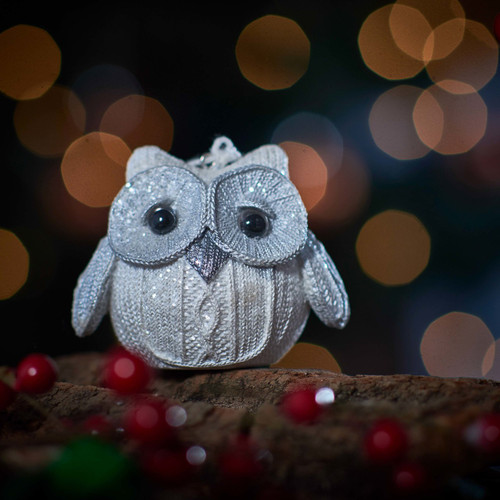 Knitted Owl - White - Without Feet