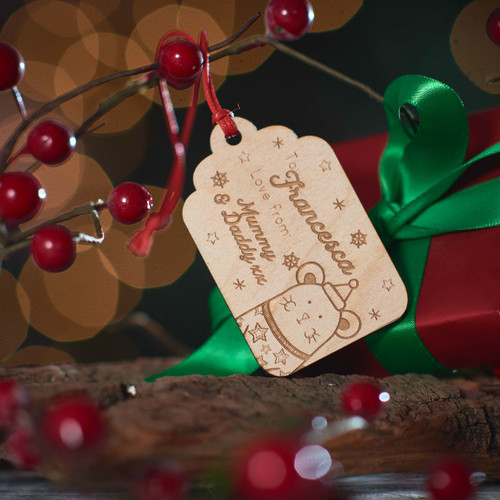 Personalised Present To/From Gift Tag - Mouse