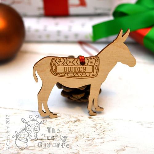 Personalised Donkey Decoration