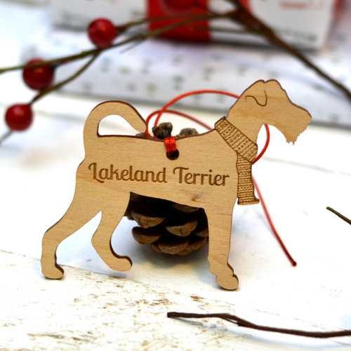 Personalised Lakeland terrier Decoration