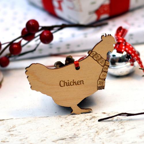 Personalised Chicken Decoration