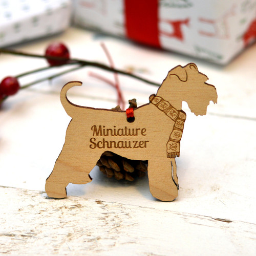 Personalised Miniature Schnauzer Decoration