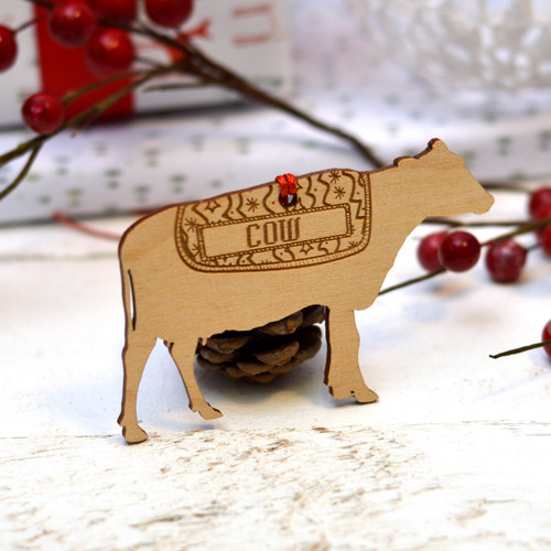 Personalised Cow Decoration
