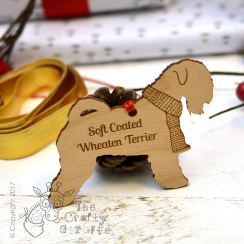Personalised Soft Coated Wheaten Terrier Decoration