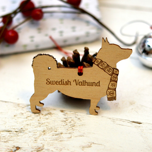 Personalised Swedish Vallhund Decoration