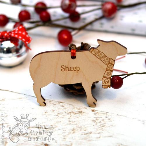 Personalised Sheep Decoration