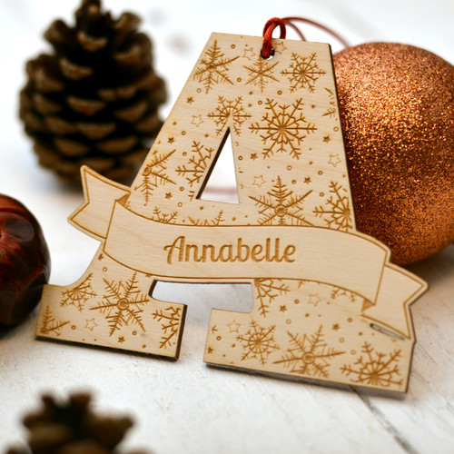 Personalised Snowflake Initial Decoration