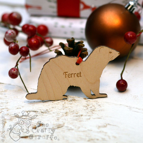 Personalised Ferret Decoration