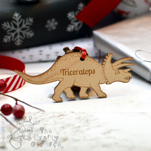 Personalised Dinosaur Decoration - Triceratops
