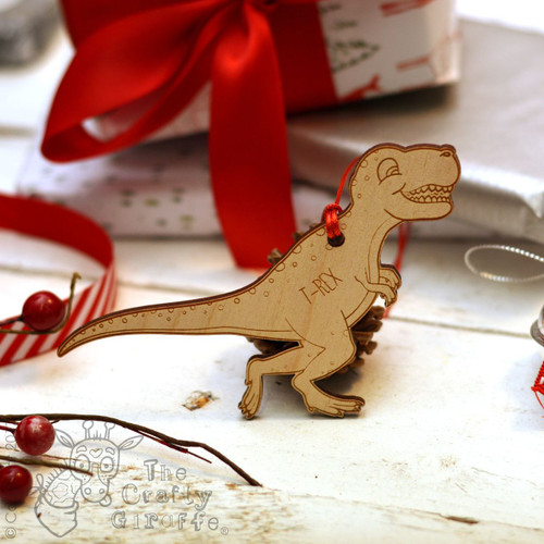 Personalised Dinosaur Decoration - T-Rex