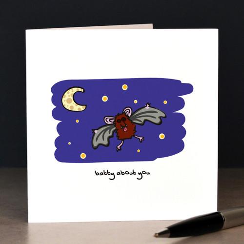 Batty about you (bats) Card