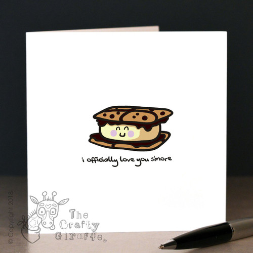 I officially love you s'more Card